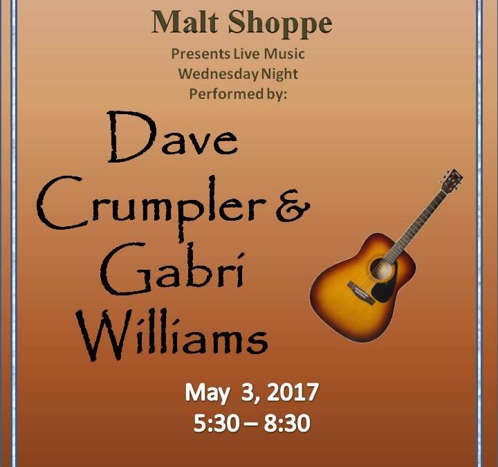 Live Music by Dave Crumpler and Gabri Williams